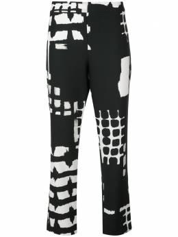 Natori укороченные брюки с принтом K87102
