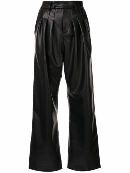 Strateas Carlucci расклешенные брюки со складками SCSS20D1WPNT001BLK