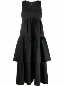 Aspesi ярусное платье с оборками 2902C118