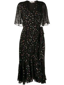 Dvf Diane Von Furstenberg платье Berdina с запахом и эффектом металлик 13668DVF