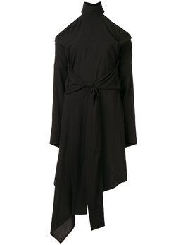 Strateas Carlucci платье Echo с вырезом SCSS20D1WDRS004BLK