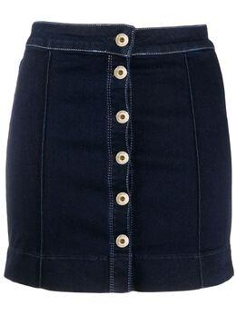 Patrizia Pepe джинсовая юбка мини на пуговицах 8J0931A6H7