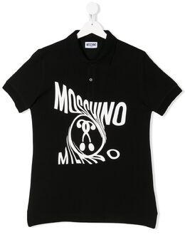 Moschino Kids рубашка-поло с короткими рукавами и логотипом HMM02ELEA04