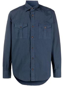 Eleventy рубашка узкого кроя с длинными рукавами A75CAMA17TET0A017