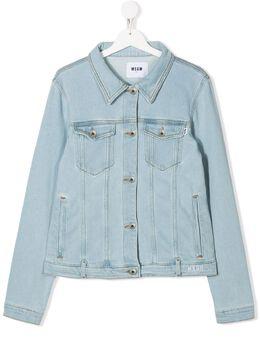 MSGM Kids джинсовая куртка с логотипом 022218