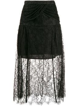 Self-Portrait многослойная кружевная юбка RS20110S