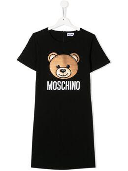 Moschino Kids платье-футболка Teddy Bear HAV088LDA12