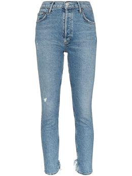 Agolde укороченные джинсы с эффектом потертости A093B3002