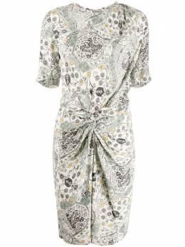 Isabel Marant Etoile платье миди с цветочным принтом и драпировкой RO164920P024E