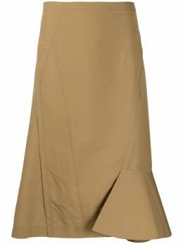 3.1 Phillip Lim юбка асимметричного кроя с завышенной талией и оборками E2023113LCP