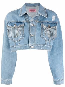 Chiara Ferragni джинсовая куртка с кристаллами CFJSH022