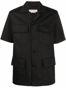 Marni рубашка свободного кроя с карманами CUMU0145A0S52545