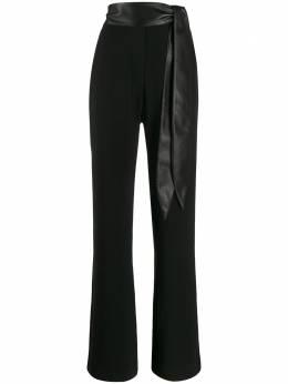 Nanushka брюки Cecilia CECILIABLACKGEORGETTE