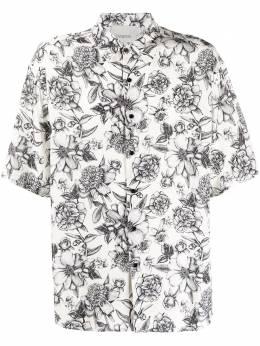 Laneus рубашка свободного кроя с принтом 4815