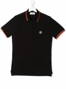 Stone Island Junior рубашка-поло с короткими рукавами и контрастной окантовкой MO721621348