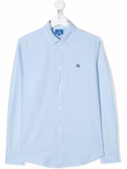 Fay Kids рубашка на пуговицах с вышитым логотипом 5M5040MX240