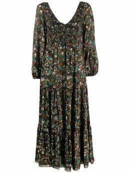 Rixo ярусное платье Lottie Klimt с принтом RIX10214120680