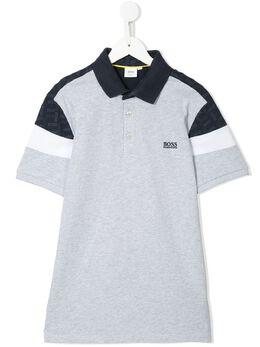Boss Kids рубашка-поло в стиле колор-блок J25E82A32