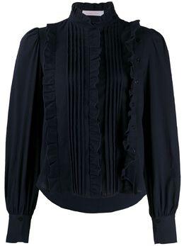See By Chloe блузка с плиссировкой и оборками CHS20SHT220284C3