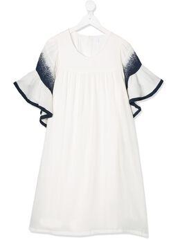 Chloe Kids платье с оборками на рукавах C12772117