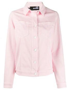 Love Moschino джинсовая куртка с вышивкой WH72601S3377