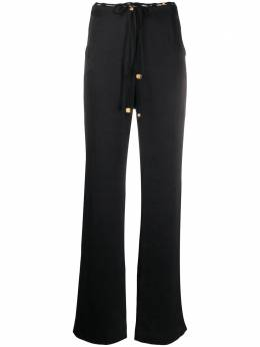 Nanushka брюки широкого кроя с завышенной талией WPA00154