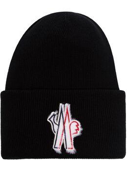 Moncler Grenoble шапка бини с аппликацией-логотипом 9973810A9251