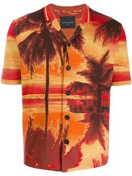 Roberto Collina рубашка с принтом RC39025