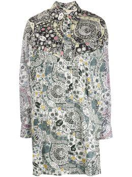Isabel Marant Etoile платье-рубашка с цветочным принтом HT166820P026E