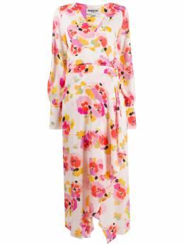 Essentiel Antwerp платье с запахом и цветочным принтом VALOUMI