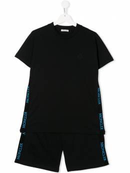 Moncler Kids костюм с короткими рукавами и логотипом 8M7072083907