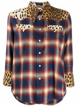 R13 рубашка с принтом в стиле вестерн R13W7244631