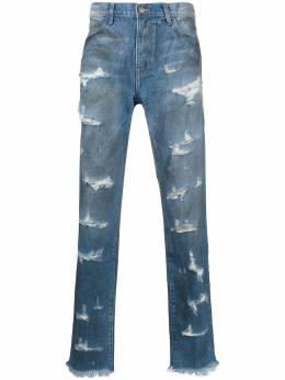 424 джинсы прямого кроя с эффектом потертости 424CPSS200006D