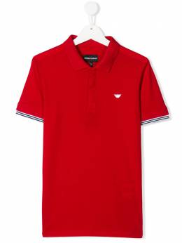 Emporio Armani Kids рубашка-поло с вышитым логотипом 3H4FX54JGAZ