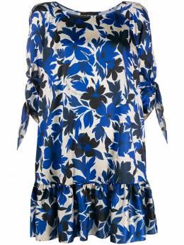 Boutique Moschino ярусное платье с цветочным принтом A04081152