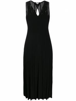 Kenzo трикотажное платье миди с сетчатой вставкой FA52RO500842