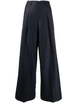 Twin-Set расклешенные брюки со складками 201TP2257