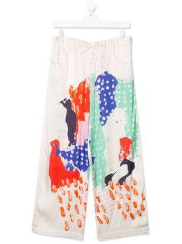 Marni Kids брюки с принтом M002M8M00HG
