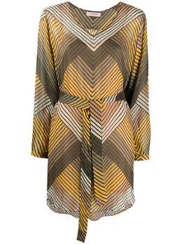 Twin-Set платье-трапеция мини в полоску 201TP2562