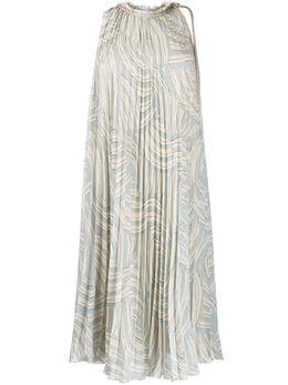 Erika Cavallini расклешенное платье миди с плиссировкой P0SU20