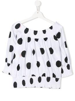 MSGM Kids блузка в горох 022459