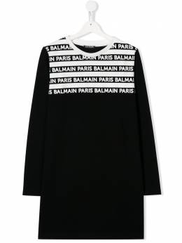 Balmain Kids платье с логотипом 6M1060ME070
