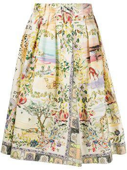 Etro юбка с принтом 133714372
