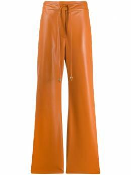 Nanushka брюки широкого кроя CHIMOBURNTORANGEVEGANLEATHER