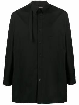 Yohji Yamamoto рубашка с ремешком на воротнике HNB19014
