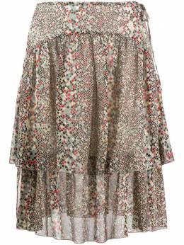 See By Chloe двухслойная юбка с геометричным принтом CHS20SJU13033