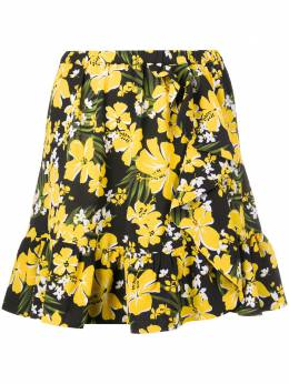 MICHAEL Michael Kors юбка мини с цветочным принтом и оборками MH97ETPDFZ