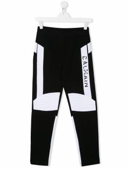 Balmain Kids двухцветные спортивные брюки 6M6547MX120