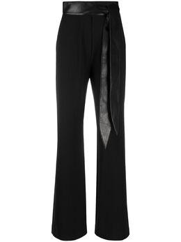 Nanushka расклешенные брюки с поясом WPA00177