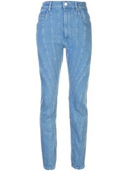 Mugler зауженные джинсы со вставками 20R6PA0283STRETCHCOTTONDENIM242